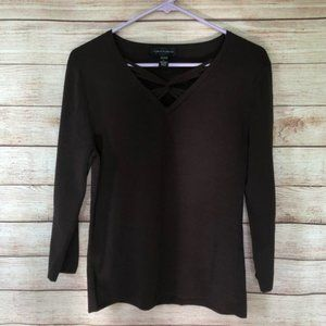Cable & Gauge Brown Sweater